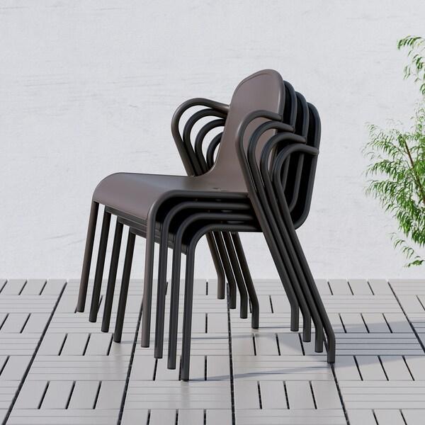 TUNHOLMEN Chaise, extérieur, brun foncé