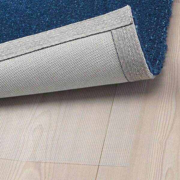 TYVELSE tapis, poils ras bleu foncé 195 cm 133 cm 14 mm 2.59 m² 3000 g/m² 1880 g/m² 13 mm