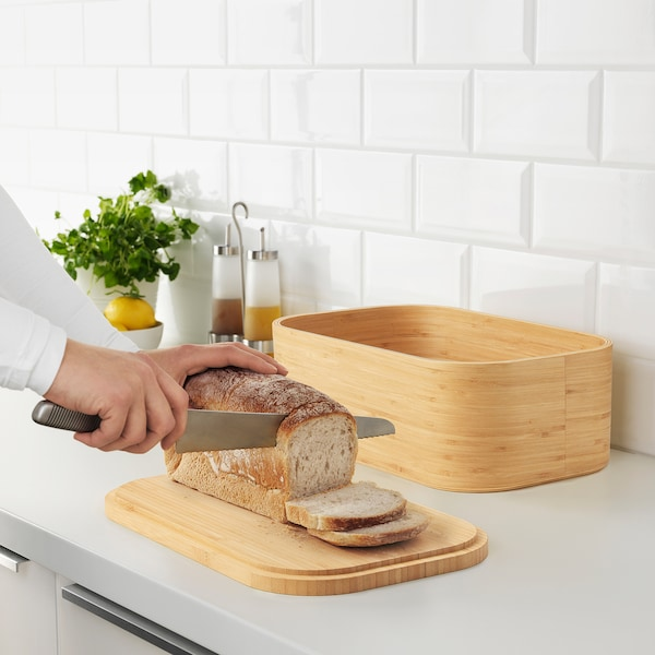 UPPSKATTNING Boîte à pain, placage bambou