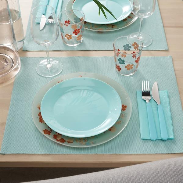 UTBYTT Set de table, turquoise clair, 35x45 cm