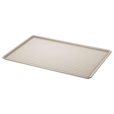 VÄLVÅRDAD Égouttoir à vaisselle, beige/acier zingué, 52x35 cm