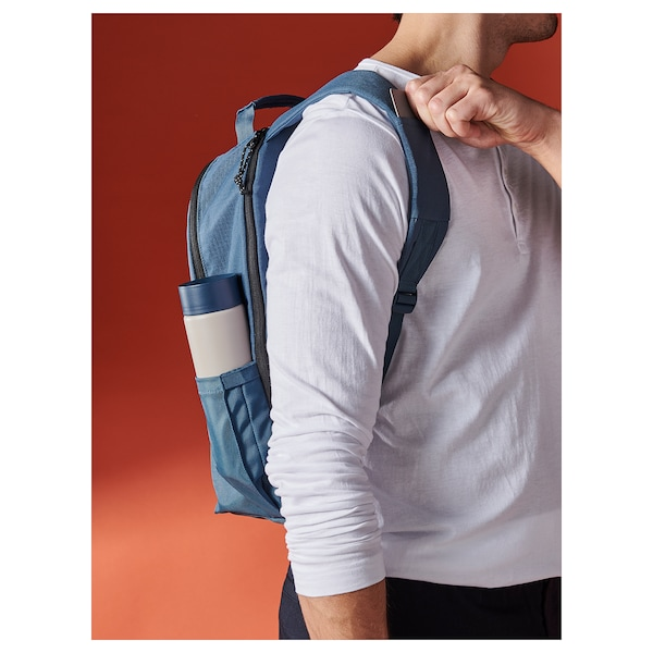VÄRLDENS sac à dos bleu foncé 16 l