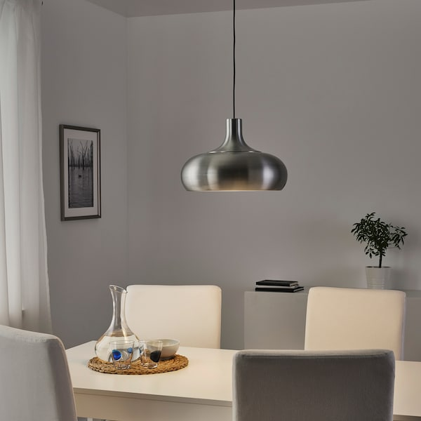 VÄXJÖ Suspension, couleur aluminium, 38 cm