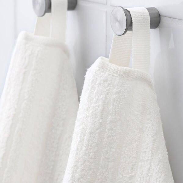 VÅGSJÖN Drap de bain, blanc, 70x140 cm