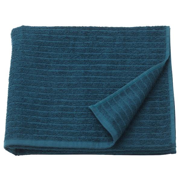 VÅGSJÖN Drap de bain, bleu foncé, 70x140 cm
