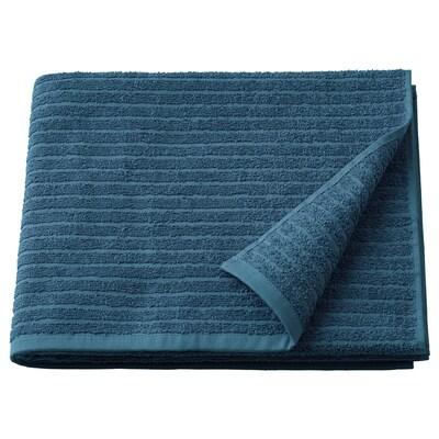 VÅGSJÖN Drap de bain, bleu, 70x140 cm