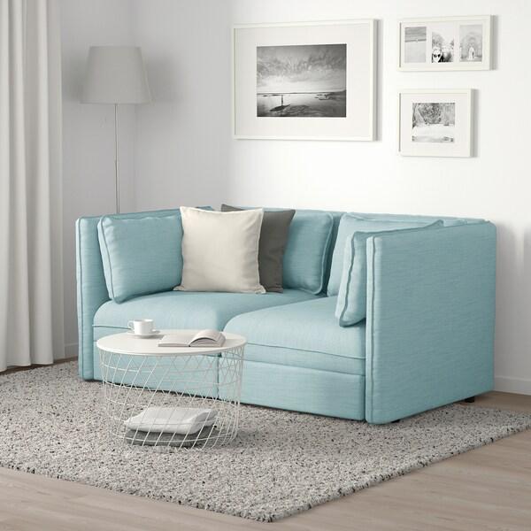 VALLENTUNA canapé modulaire, 2 places Hillared bleu clair 186 cm 113 cm 84 cm 100 cm 45 cm