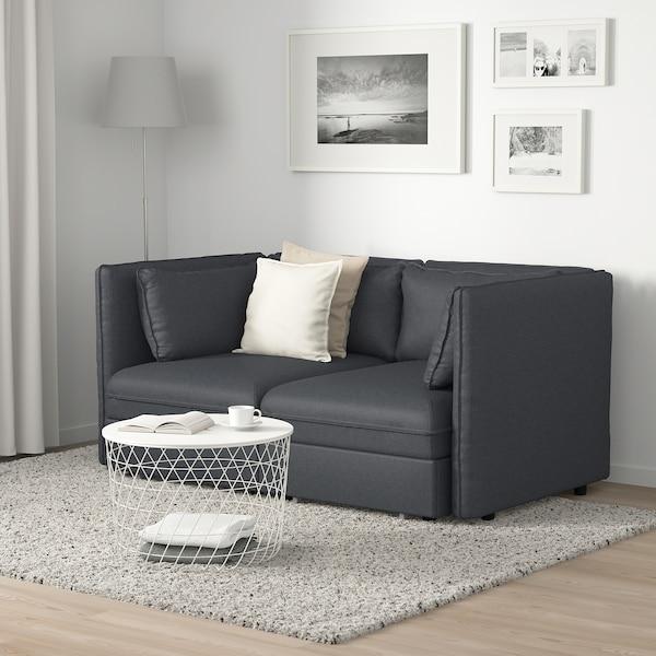 VALLENTUNA canapé modulaire 2 pl av 2 conv Hillared gris foncé 186 cm 113 cm 84 cm 100 cm 45 cm 160 cm 200 cm