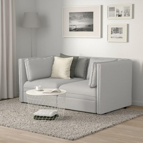 VALLENTUNA Canapé modulaire, 2 places, Orrsta gris clair