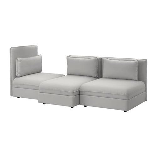Vallentuna canap 3 places orrsta gris clair ikea for Canape ikea gris