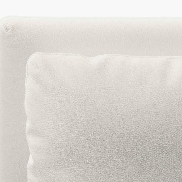 VALLENTUNA canapé d'angle modulaire, 3 places avec rangement/Murum blanc 93 cm 84 cm 266 cm 193 cm 80 cm 45 cm