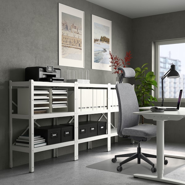VALLFJÄLLET Chaise bureau av appui-tête, Gunnared gris