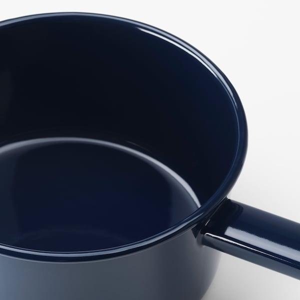 VARDAGEN Casserole avec couvercle, acier émaillé, 2 l