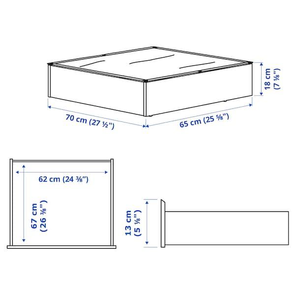 VARDÖ Rangement pour lit, noir, 65x70 cm