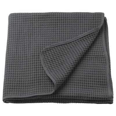 VÅRELD Couvre-lit, gris foncé, 150x250 cm