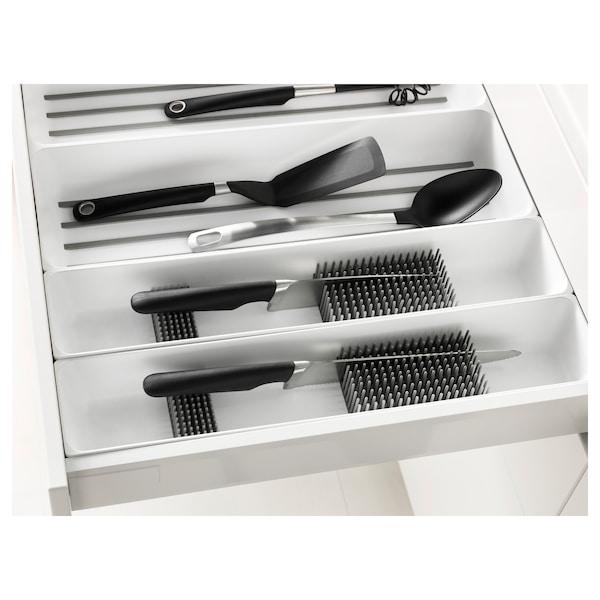 VARIERA Range-couteaux pour tiroir, blanc, 10x50 cm