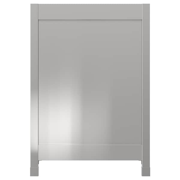 VÅRSTA Panneau de finition avec pieds, acier inoxydable, 62x88 cm