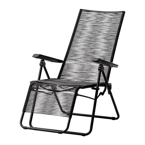 V sman chaise longue ext rieur noir ikea for Chaises longues exterieur