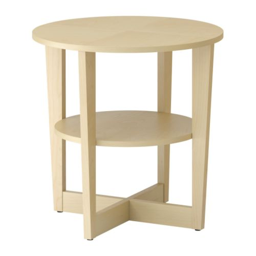 Vejmon table d 39 appoint plaqu bouleau ikea for Ikea besta table d appoint