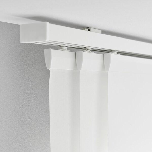 VIDGA Rail pour rideau, triple, blanc, 140 cm