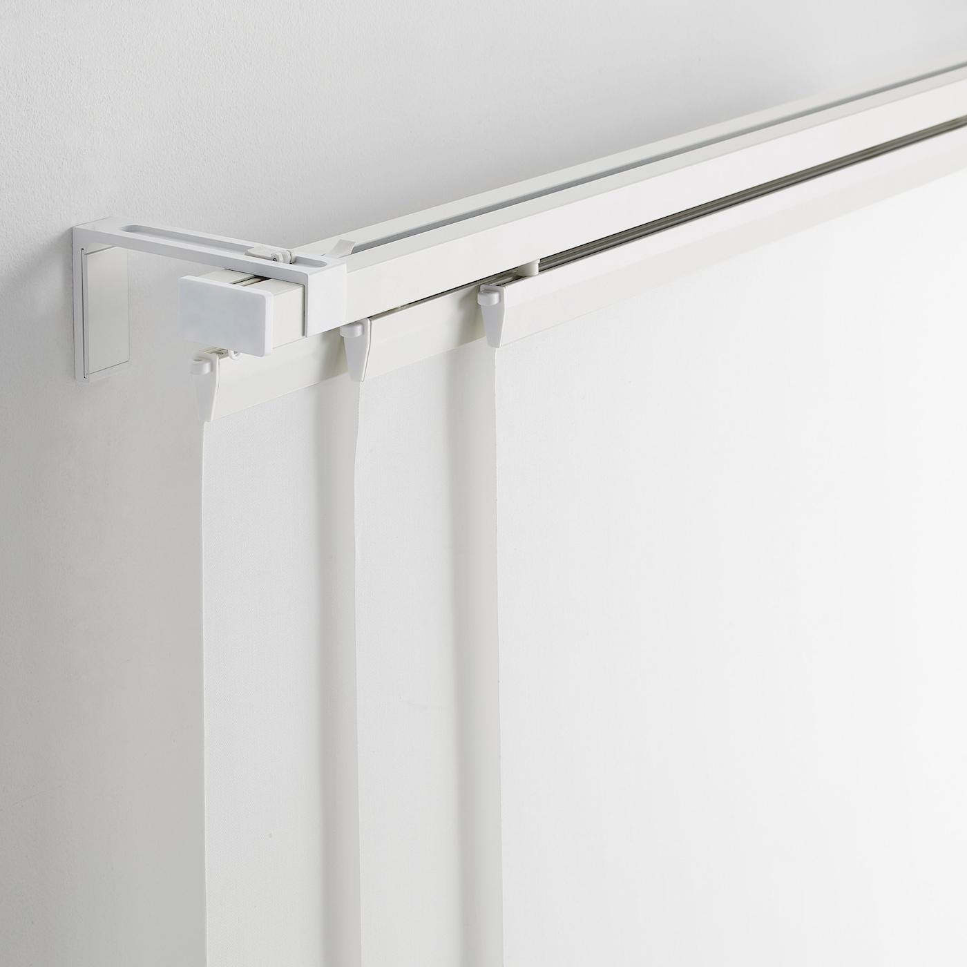 Fixation De Rideau Au Plafond vidga rail pour rideau, triple - blanc 140 cm