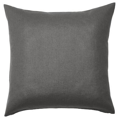 VIGDIS Housse de coussin, noir-gris, 50x50 cm