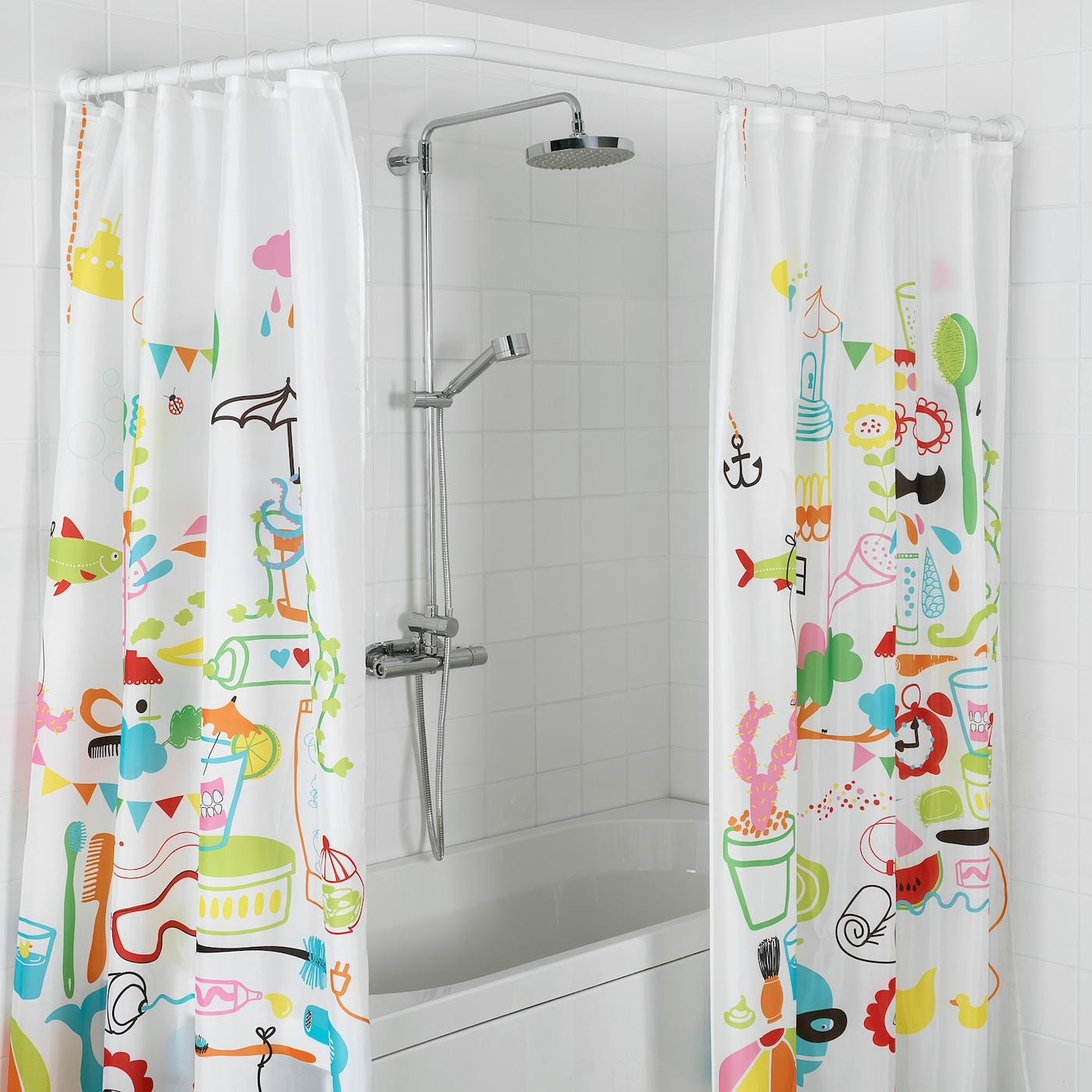 IKEA RINGSJÖN Transparent Anneau de rideau de douche