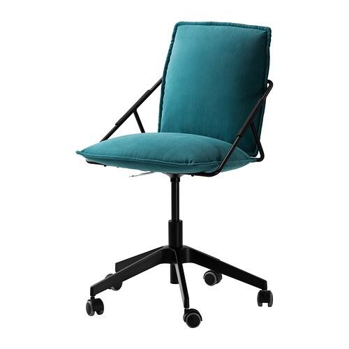 Villstad chaise pivotante samsta turquoise ikea for Chaise pivotante