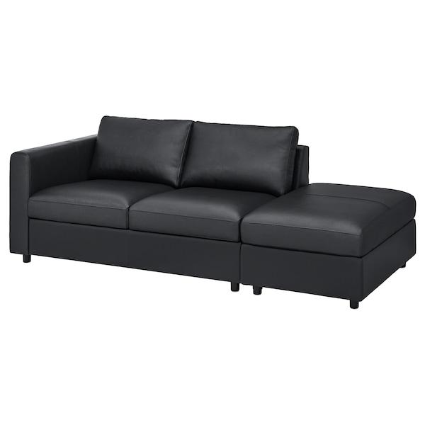 VIMLE Canapé 3 places, sans accoudoir/Grann/Bomstad noir