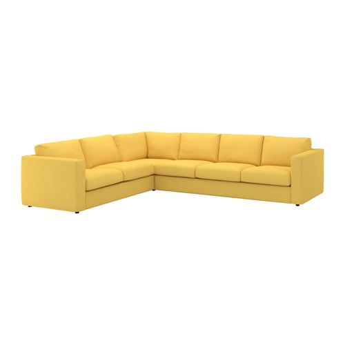 Vimle canap d 39 angle 5 places orrsta jaune dor ikea for Canape vimle ikea