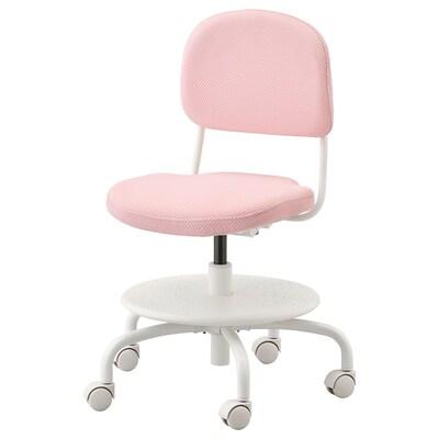 VIMUND Chaise de bureau enfant, rose clair