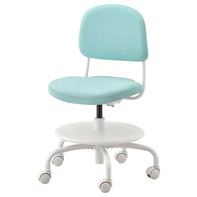 VIMUND Chaise de bureau enfant, turquoise clair