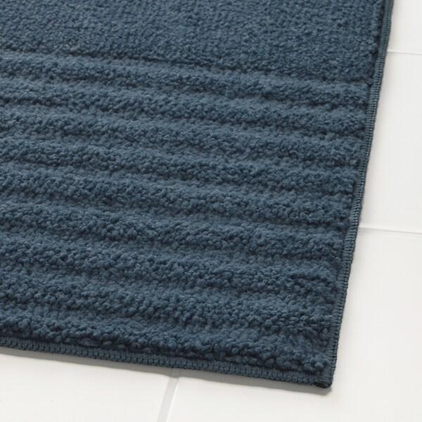 VINNFAR Tapis de bain, bleu foncé, 40x60 cm
