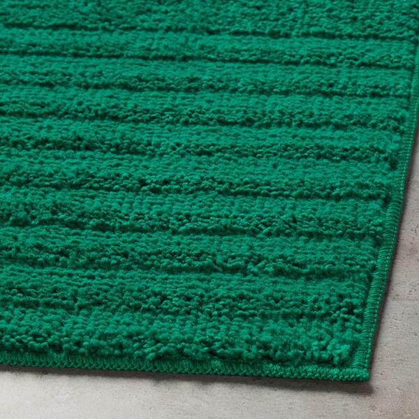 VINNFAR Tapis de bain, vert foncé, 40x60 cm