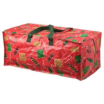 VINTER 2021 Sac de rangement, motif Noël rouge, 35x73x30 cm/76 l
