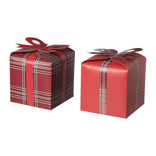 Image Boite Cadeau vinter 2018 boîte cadeau, lot de 2 - ikea