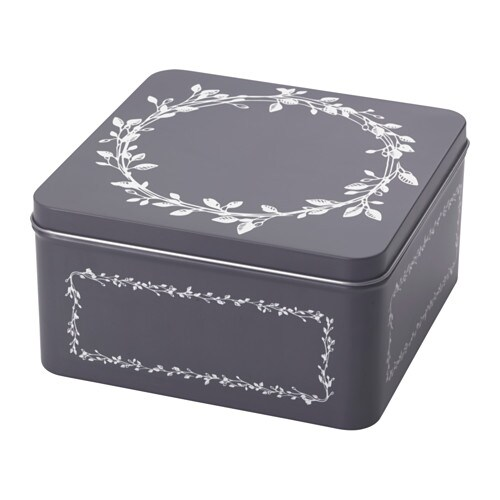 vinter 2016 bo te m tallique couvercle ikea. Black Bedroom Furniture Sets. Home Design Ideas