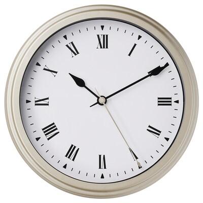 VISCHAN Horloge murale, beige, 30 cm