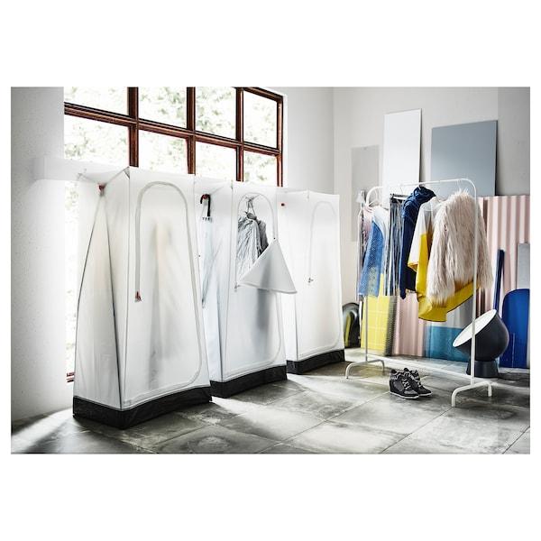 VUKU Armoire-penderie, blanc, 74x51x149 cm