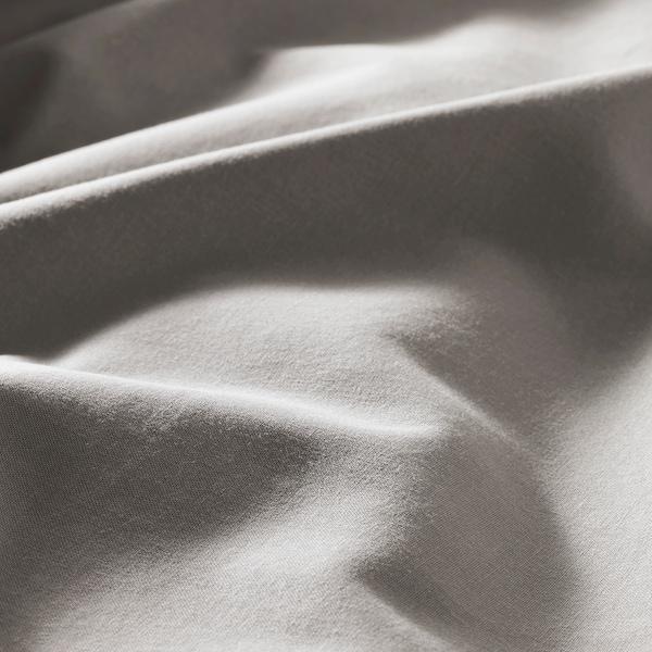 ÄNGSLILJA Copripiumino e federa, grigio, 150x200/50x60 cm