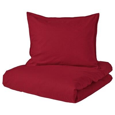 ÄNGSLILJA copripiumino e federa rosso 125 Pollice² 1 pezzi 200 cm 150 cm 50 cm 60 cm