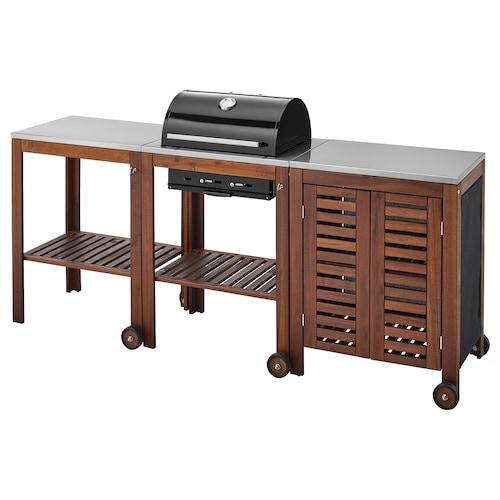 IKEA ÄPPLARÖ / KLASEN Barbecue carbonella/carrello/mobile