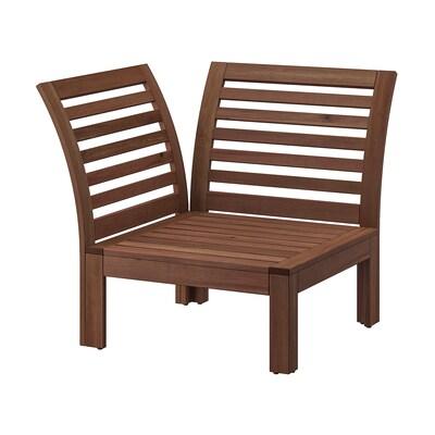 ÄPPLARÖ Seduta angolare da giardino, mordente marrone
