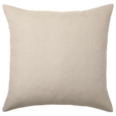 AINA Fodera per cuscino, beige, 50x50 cm