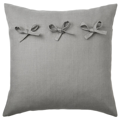 AINA Fodera per cuscino, grigio, 50x50 cm