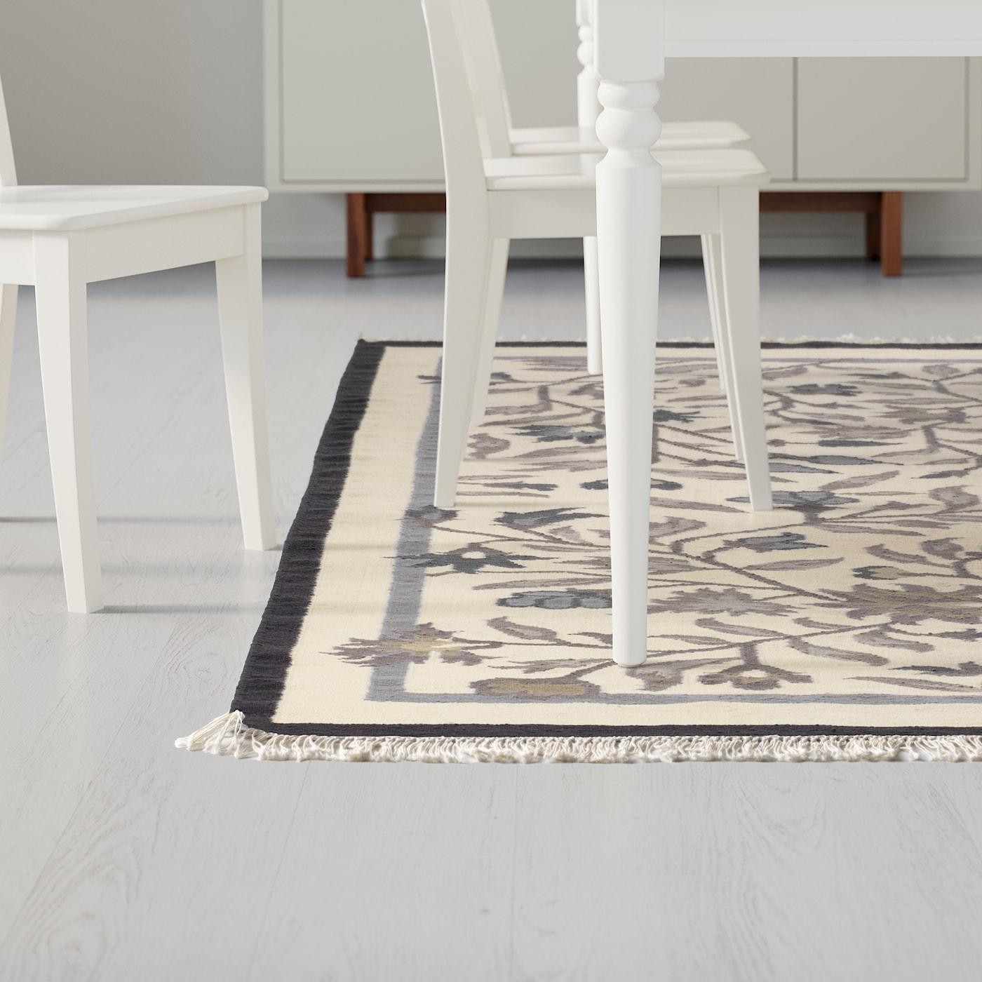 Lavare Tappeto Lana Ikea alvine tappeto, tessitura piatta - fatto a mano grigio 170x240 cm
