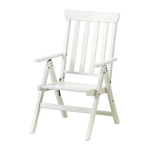 Ngs sedia reclinabile da giardino pieghevole bianco ikea for Sedia pieghevole ikea