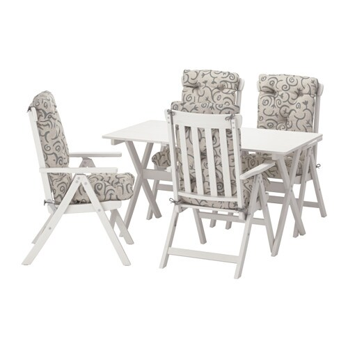 Ngs tavolo 4 sedie relax da giardino ngs mordente bianco steg n beige ikea - Set da giardino ikea ...