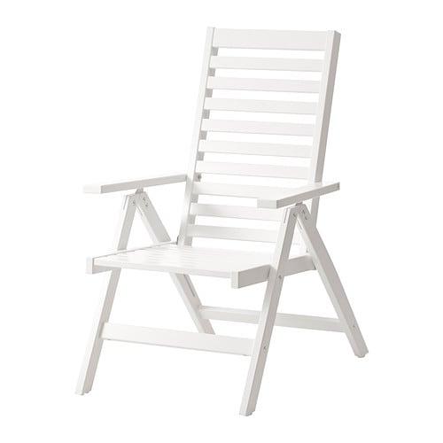 pplar sedia relax da giardino bianco ikea