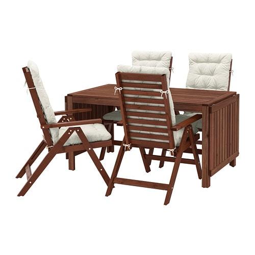 Sedie In Legno Da Giardino Ikea.Applaro Tavolo 4 Sedie Relax Da Giardino Applaro Mordente Marrone